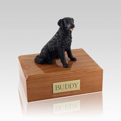 Labrador Black Long-haired Medium Dog Urn