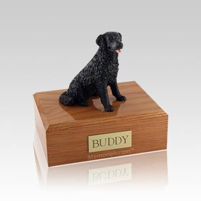 Labrador Black Long-haired Small Dog Urn