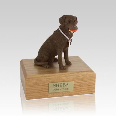 Labrador Chocolate Playing Large Dog Urn