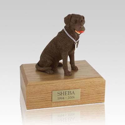 Labrador Chocolate Playing X Large Dog Urn