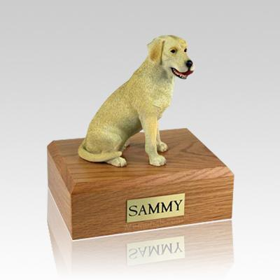 Labrador Yellow Playing Large Dog Urn