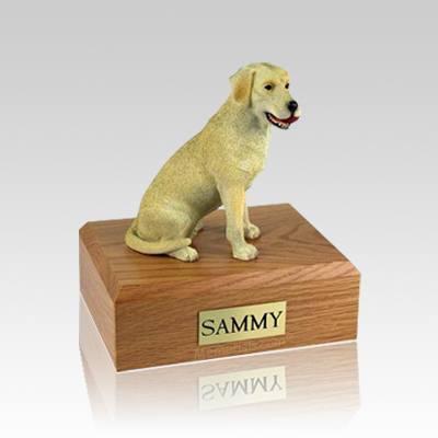 Labrador Yellow Playing Medium Dog Urn