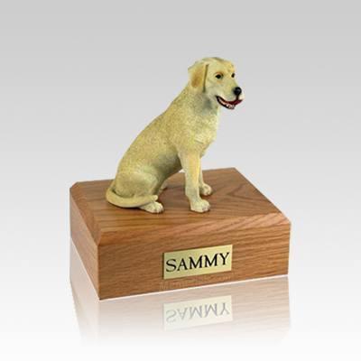 Labrador Yellow Playing Small Dog Urn