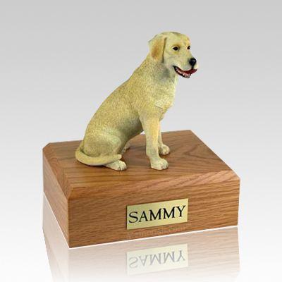 Labrador Yellow Playing X Large Dog Urn