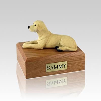 Labrador Yellow Small Dog Urn