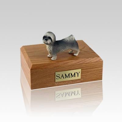 Lhasa Apso Gray Puppycut Small Dog Urn