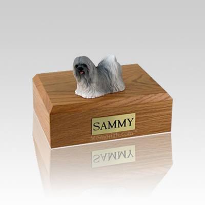Lhasa Apso Gray Small Dog Urn