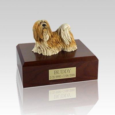 Lhasa Apso Standing Large Dog Urn
