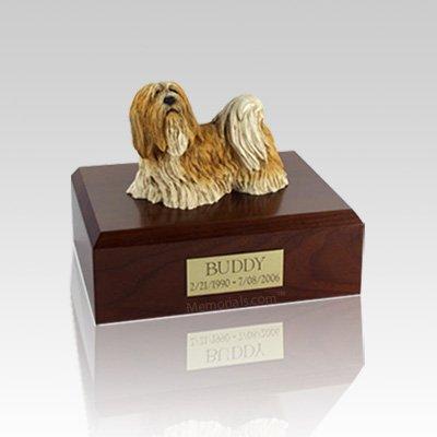Lhasa Apso Standing Medium Dog Urn
