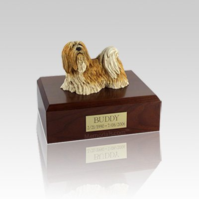 Lhasa Apso Standing Small Dog Urn
