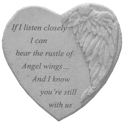 Listen Closely Angel Heart Stone