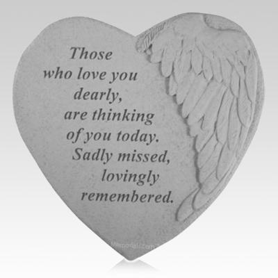 Loved Dearly Angel Heart Stone