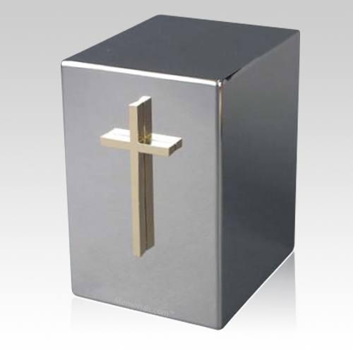 Lustro Cross Steel Urn