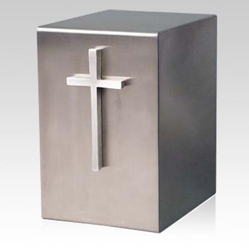 Lustro Cruz Steel Urn