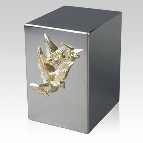 Lustro Doves Steel Urn
