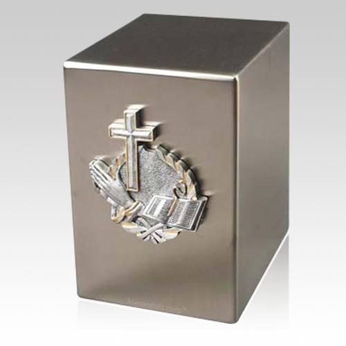 Lustro Faith Steel Urn