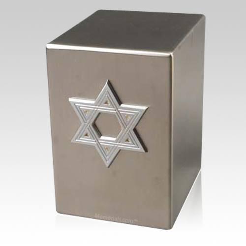 Lustro Star of David Steel Urn