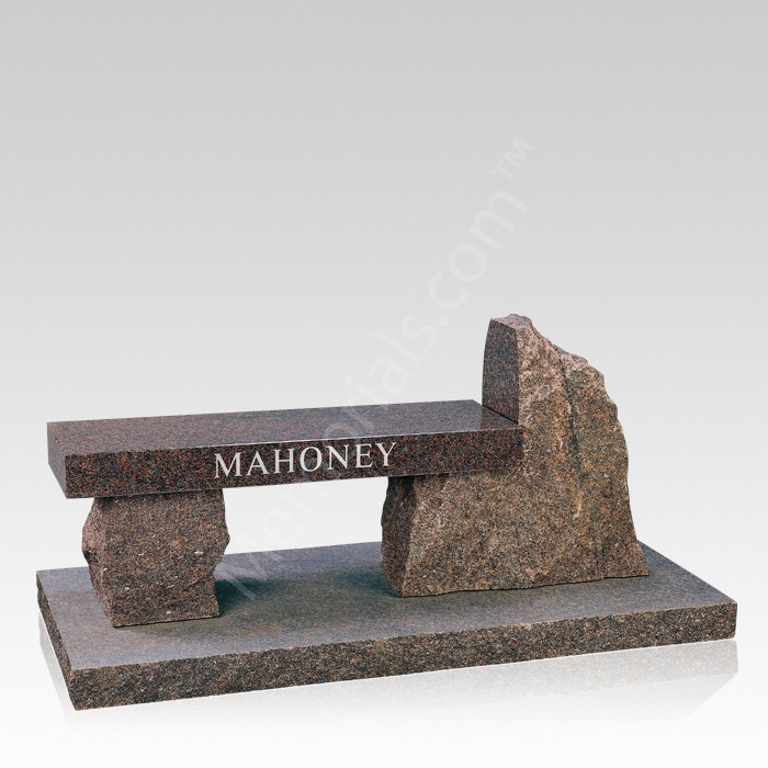 Rustic Cemetery Bench