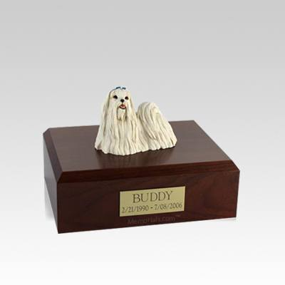 Maltese Small Dog Urn