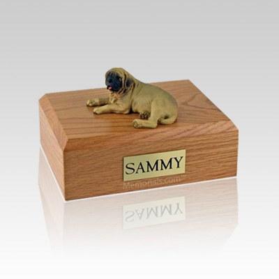 Mastiff Laying Small Dog Urn