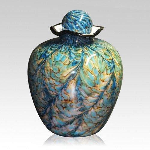 Mermaid Glass Cremation Urn