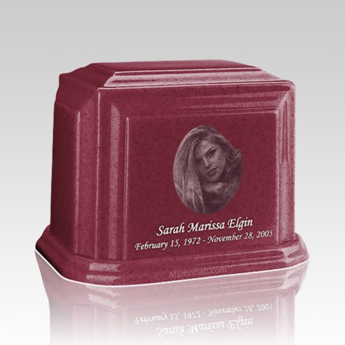 Millennium Raspberry Medium Marble Urn