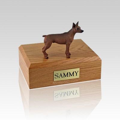 Miniature Pincher Red & Brown Medium Dog Urn
