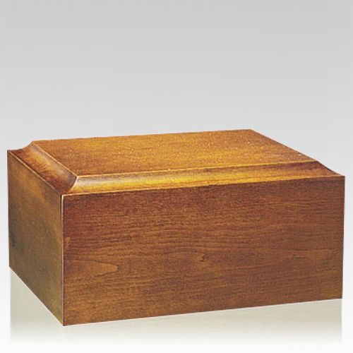 Minimalist Oak Companion Urn