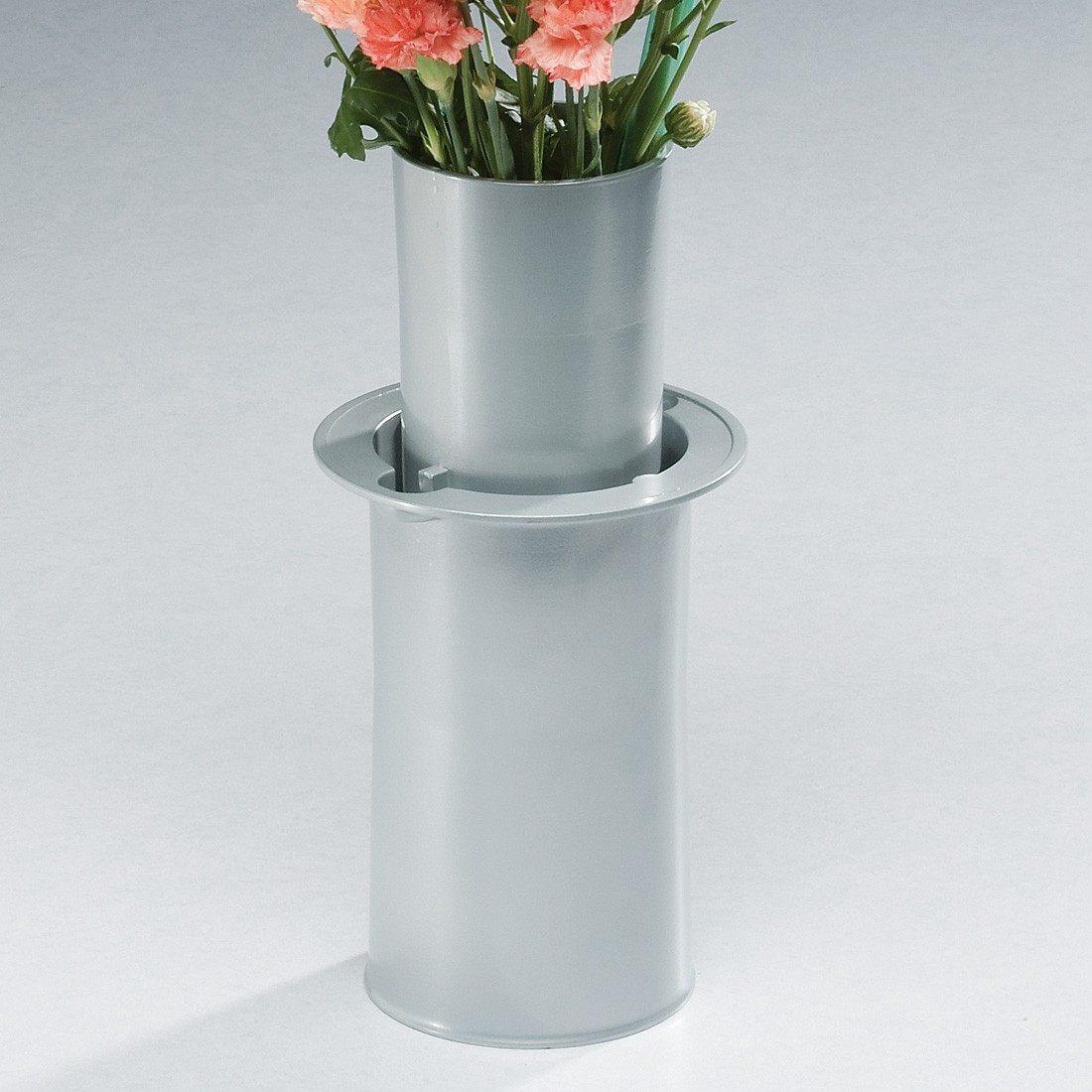 moderne silver cemetery vase. Black Bedroom Furniture Sets. Home Design Ideas