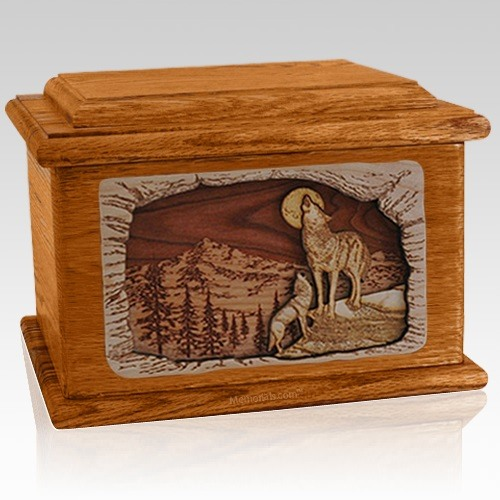 Moonlight Serenade Mahogany Memory Chest Cremation Urn