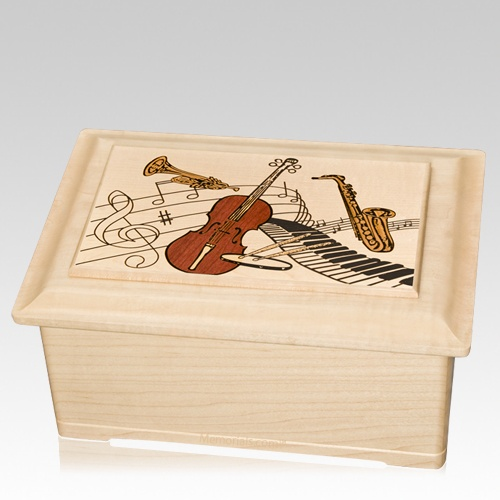 Music Memory Chest Cremation Urn