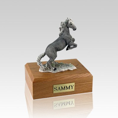 Mustang Gray Small Horse Cremation Urn