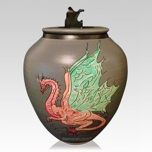 Mystic Dragon Cremation Urn