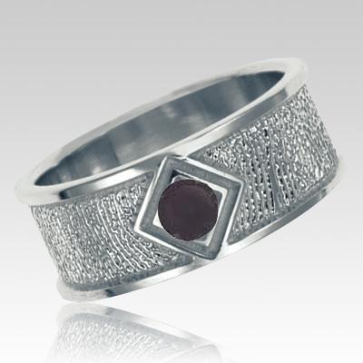 Onyx Sterling Silver Ring Print Keepsake