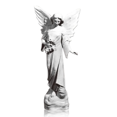 Open Wing Angel Marble Statues