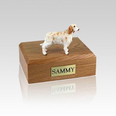 Orange Belton English Setter Small Dog Urn