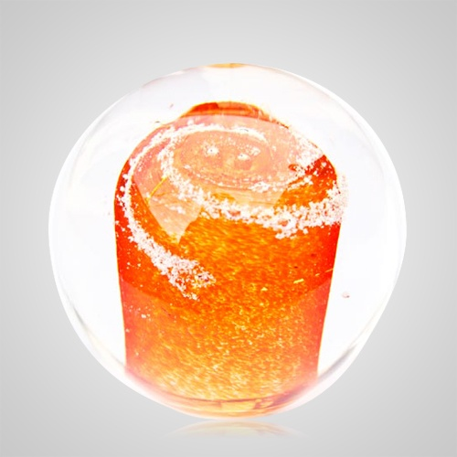 Orange Cremation Glass Weight