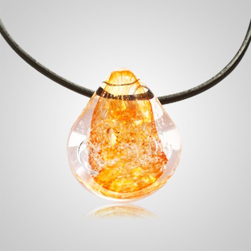 Orange Memorial Jewelry Pendant
