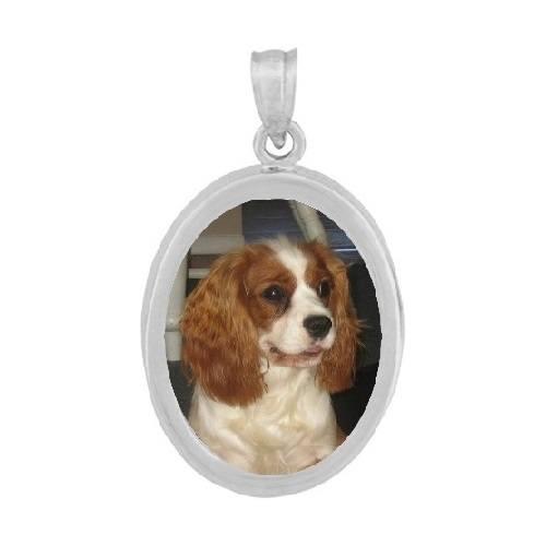 Oval Silver Photo Jewelry
