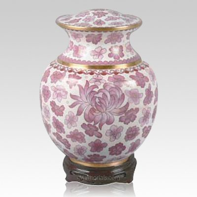 Palace Pink Cloisonne Urn