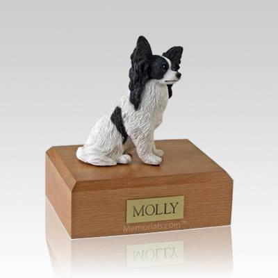 Papillon Black Large Dog Urn