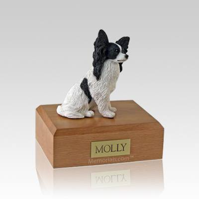 Papillon Black Medium Dog Urn