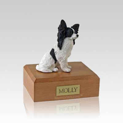 Papillon Black Small Dog Urn