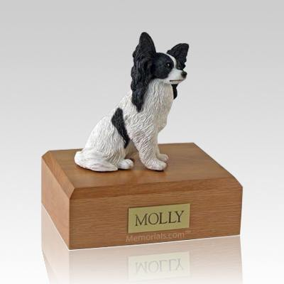 Papillon Black X Large Dog Urn