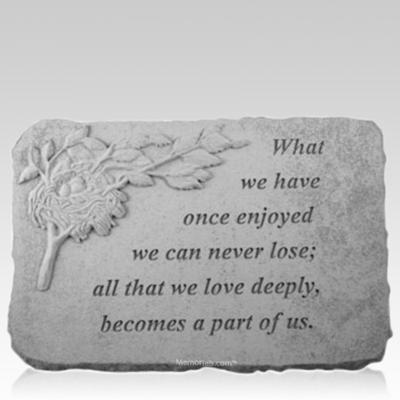Part of Us Nest Memorial Stone