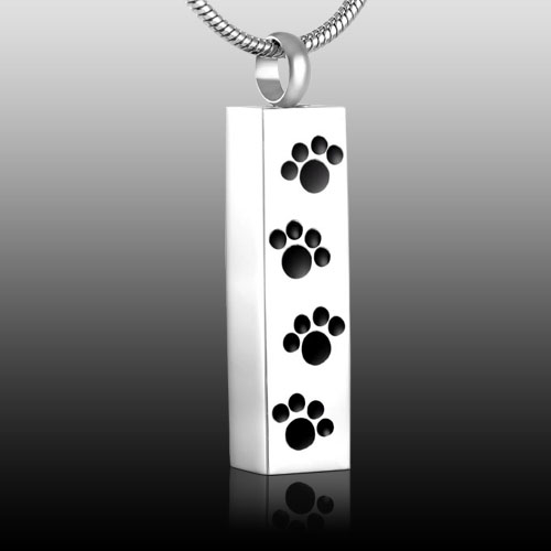 Paws On My Heart Cremation Pendant