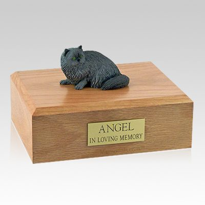 Persian Grey Laying Cat Cremation Urns