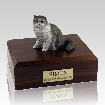 Persian Grey and White X Large Cat Cremation Urn