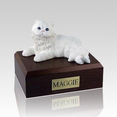Persian White Medium Cat Cremation Urn