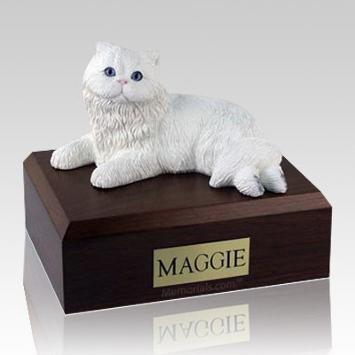 Persian White X Large Cat Cremation Urn